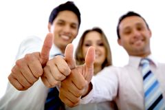 Business group with thumbs up Stock Image