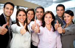 Business group with thumbs up Royalty Free Stock Photos