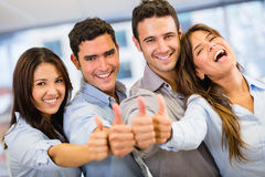 Business group with thumbs up Stock Photos