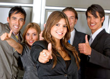 Business group - Thumbs up Stock Photos