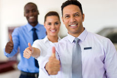 Business group thumbs up Royalty Free Stock Photography