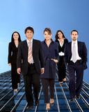 Business group walking Royalty Free Stock Images