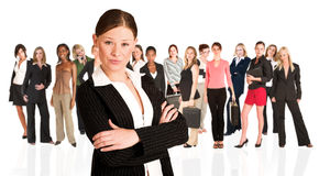 Business group of woman only royalty free stock photos