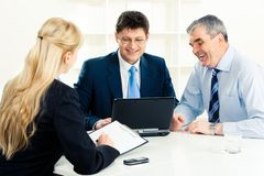 Business group at work Royalty Free Stock Images