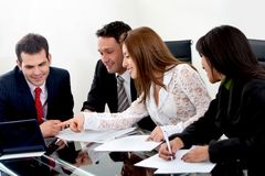 Business group working Royalty Free Stock Photos