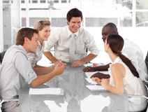 Business Group working and interacting Stock Photography