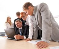 Business group working on a project Royalty Free Stock Images
