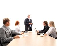 Business group working on a project Stock Photos