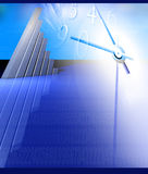 Business Growing graph. Business statistics graph made in 3d with lighting effects Stock Photo