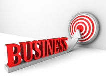 Business growing up success target arrow Royalty Free Stock Photography