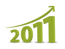 Business growth in 2011. Business growth in year 2011 Stock Images