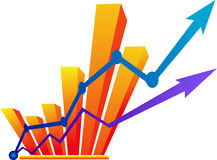 Business growth. Illustration art of a business growth with isolated background Stock Images