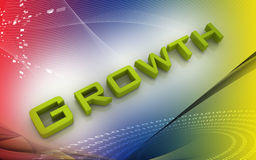 Business growth. Digital illustration of Business growth in 3d on colour background stock illustration