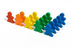 Business Growth. Business concepts illustrated with colorful wooden people - growth in business Stock Image