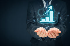 Business growth analysis Royalty Free Stock Image