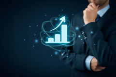 Business growth analysis Stock Photography