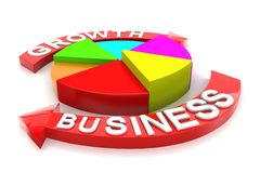 Business Growth Arrow Circle graph Stock Photo