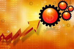 Business growth arrow graph Stock Image