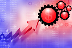 Business growth arrow graph Stock Photography