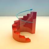 Business growth bar graph Stock Photos