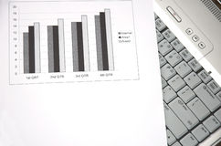 Business growth chart. Royalty Free Stock Image