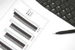 Business growth chart. Stock Images