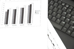 Business growth chart. Stock Photo