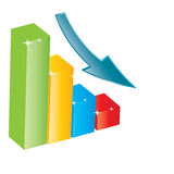 Business growth chart. Royalty Free Stock Images