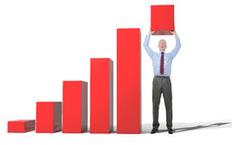 Business growth chart Stock Photos