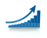 Business growth chart. An illustrated business growth chart on a white background stock illustration