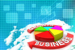 Business Growth chart Illustration  Royalty Free Stock Photos