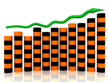 Business growth chart of orange black boxes Royalty Free Stock Photography