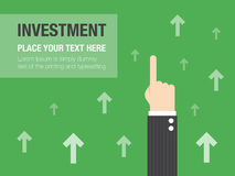 Business growth concept. Background. Business concept flat illustration Stock Image