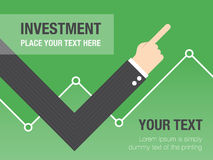Business growth concept. Background. Business concept flat illustration Royalty Free Stock Images