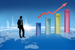 Business Growth Concept. Business and Financial Growth Concept Stock Images