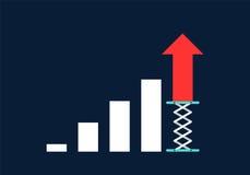 Business growth concept flat design. Illustration Stock Photos