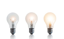 Business Growth Concept. Isolate light bulb on white background, financial increase market profit Stock Images