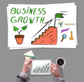 Business growth concept placed on a desk Royalty Free Stock Photo