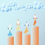 Business growth concept. Rocket. Useful for advertising, social. Rocket. Useful for advertising, social media, start up. Business growth concept Stock Photos