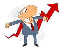 Business growth concept. Vector illustration of a business growth concept Stock Image