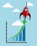 Business growth design Stock Photography