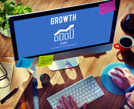 Business Growth Economics Graph Concept Stock Photography