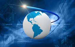 Business growth globe Stock Image