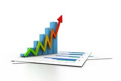 Business growth graph Royalty Free Stock Photos