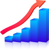Business growth graph. Up arrow Royalty Free Stock Images