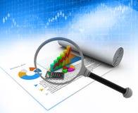 Business growth graph analysing Stock Photos