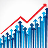 Business growth graph background Stock Image