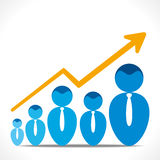 Business growth graph. Businessmen business growth graph  vector Royalty Free Stock Images