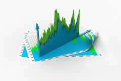 Business growth graph and chart Stock Images