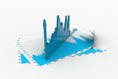 Business growth graph and chart Royalty Free Stock Image